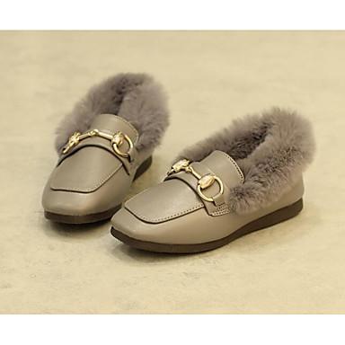 Mädchen Schuhe PU Herbst Winter Komfort Stiefel Für Normal Schwarz Grau