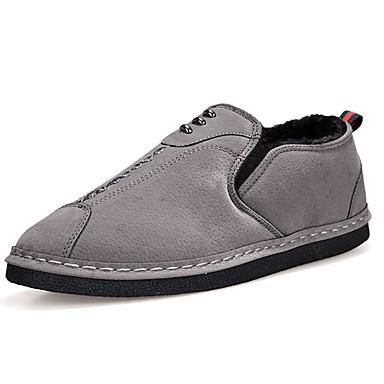 Męskie Buty PU Wiosna Jesień Mokasyny Comfort Mokasyny i pantofle na Casual Black Gray Yellow