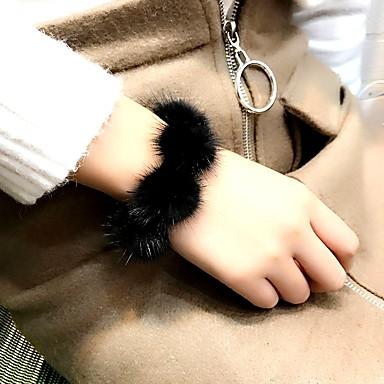 Damskie Pearl imitacja Bransoletki i łańcuszki na rękę, Bransoletka - Imitacja pereł, Futro Black