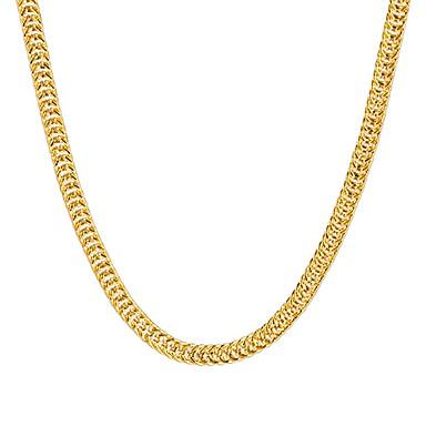 caa55872ab68 Mujer Collares de cadena Collar de hebras Chapado en Oro Hip-Hop Dorado  Gargantillas Joyas Para Fiesta Diario