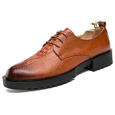 Męskie Buty Skóra / Nappa Leather Wiosna / Jesień Comfort / formalne Buty Oksfordki Black / Brown