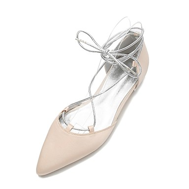 Bout Satin Perle pointu Noeud Jane Mary Chaussures Bleu Creuse Chaussures Eté mariage Printemps de Confort 06390601 Femme Ballerine q6wHn
