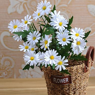 1 Gałąź Jedwab Stokrotki Bukiety na stół Sztuczne Kwiaty Dekoracja domowa Kwiaty ślubne