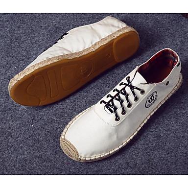 Herren Schuhe Leinen Frühling Herbst Komfort Sneakers für Normal Schwarz Beige Blau