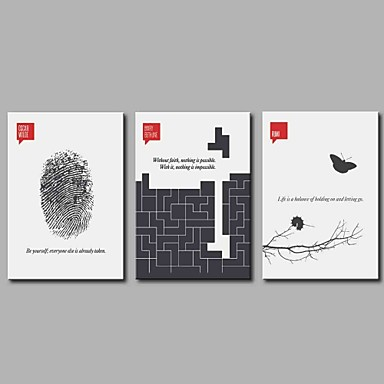 Humor Pejzaże Comtemporary, Trzy panele Brezentowy Poziomy panoramiczny Wydrukować wall Decor Dekoracja domowa