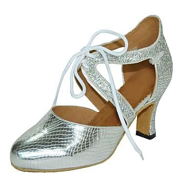 Damskie Buty do tańca nowoczesnego Derma Sandały Obcas do wyboru Buty do tańca Black / Silver / Gray / Domowy