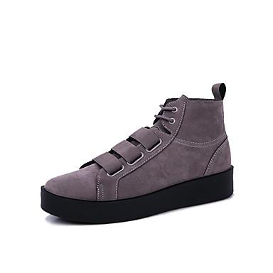Herren Schuhe PU Winter Herbst Komfort Leuchtende Sohlen Sneakers Für Normal Schwarz Grau Khaki