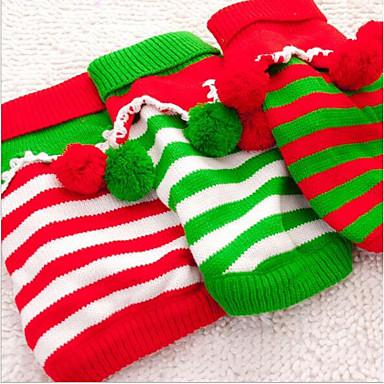 Kot Pies Swetry Święta Bożego Narodzenia Ubrania dla psów Naszywka White Czerwony Green Inny materiał Kostium Dla zwierząt domowych nowy