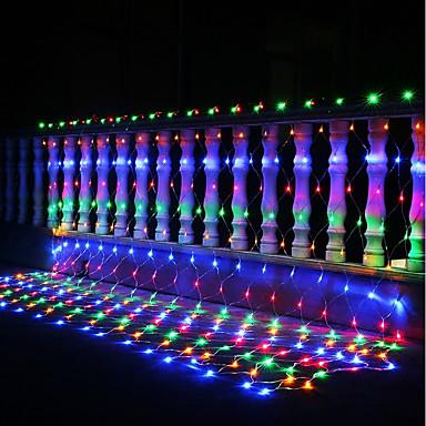 3m * 2m 200 leds im freien urlaub weihnachten xmas dekorative hochzeitsnetz mesh string