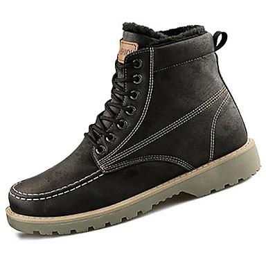 Damskie Obuwie Syntetyczny Microfiber PU Derma PU Zima Modne obuwie Comfort Buciki Okrągły Toe na Casual Black Gray Brown