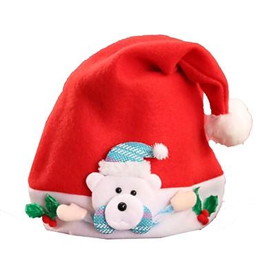 Święto Kostiumy Św. Mikołaja Christmas Hat White Brown Czerwony Różowy Tkanina Akcesoria do cosplay Boże Narodzenie