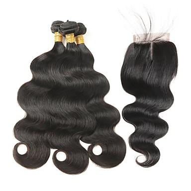 Włosy indyjskie Włosy remy Body wave Ludzkie włosy wyplata 4szt Człowieka splotów włosów