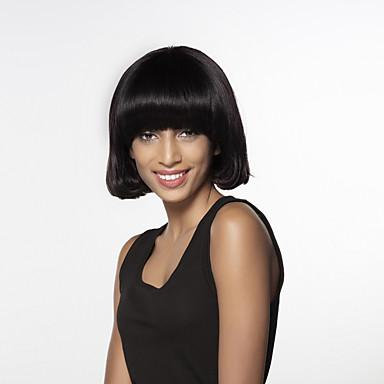 Ludzkie Włosy Capless Peruki Włosy naturalne Naturalne fale Medium Tkany maszynowo Peruka Damskie