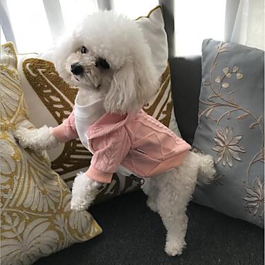Kot / Pies Płaszcze / Swetry / Bluzy z kapturem Ubrania dla psów Biały / Czerwony / Różowy Bawełna Kostium Dla zwierząt domowych Imprezowa / nowy / Codzienne