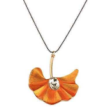Damskie Naszyjniki z wisiorkami - Imitacja diamentu Leaf Shape Klasyczny, Modny Orange Naszyjniki Na Codzienny