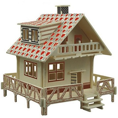 1d2d6925f58a Παζλ 3D Παζλ Ξύλινα μοντέλα Kit de Construit Σπίτια Μόδα Σπίτι Κλασσικό  Μόδα Νεό Σχέδιο Παιδικά