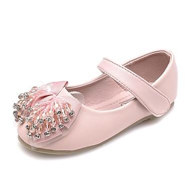 Dla dziewczynek Obuwie Derma Wiosna Comfort / Lekkie podeszwy Buty płaskie Stras / Kryształki / Kokarda na Różowy / Brokat
