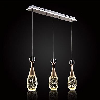 3-Light Anheng Lys Omgivelseslys galvanisert Metall Glass Krystall 110-120V / 220-240V