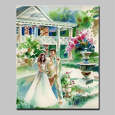 Ręcznie malowane Krajobraz Pionowy, Nowoczesny Brezentowy Hang-Malowane obraz olejny Dekoracja domowa Jeden panel