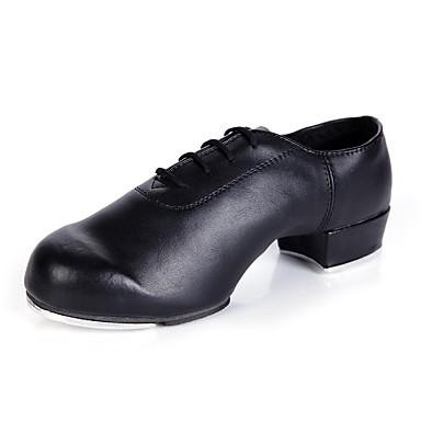 Damskie Buty do stepowania Skóra Adidasy / Pełna podeszwa Wykończenie Niski obcas Personlaizowane Buty do tańca Black