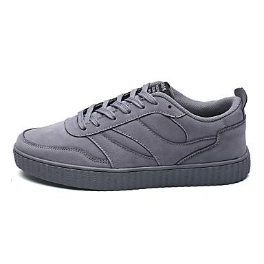 Herren Schuhe PU Alle Jahreszeiten Komfort Leuchtende Sohlen Sneakers Für Normal Schwarz Grau Braun Rot