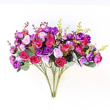Sztuczne Kwiaty 2 Gałąź Pasterski Styl Roses Bukiety na stół / Nie wliczone
