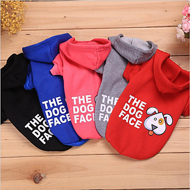 Kot Pies Bluzy Święta Bożego Narodzenia Ubrania dla psów Zwierzę Black Gray Czerwony Bawełna Kostium Dla zwierząt domowych Codzienne