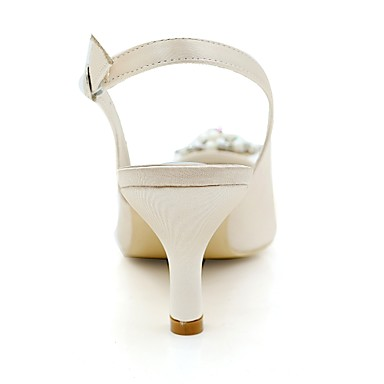 Printemps Bleu 06404713 Satin mariage Imitation Champagne Bout Basique Escarpin Chaussures Strass Eté pointu Femme Perle Chaussures de wT5aE6xAqA
