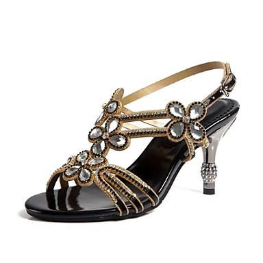 Noir Bottes Brillante Similicuir Or Paillette la à Printemps Femme 06356243 Eté Sandales Chaussures Mode Bout Strass Cristal ouvert xIfHnfq6wa