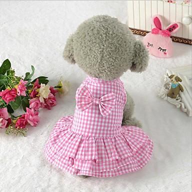 Święta Bożego Narodzenia Ubrania dla psów Niebieski / Różowy Bawełna Kostium Dla zwierząt domowych Imprezowa / Codzienne / Ślub