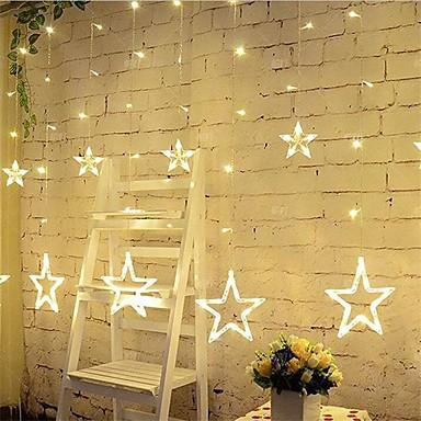 3m 12 Sterne Lichter Weihnachten Halloween dekorative Lichter festliche Streifen Lichter mit Sternen (220V)
