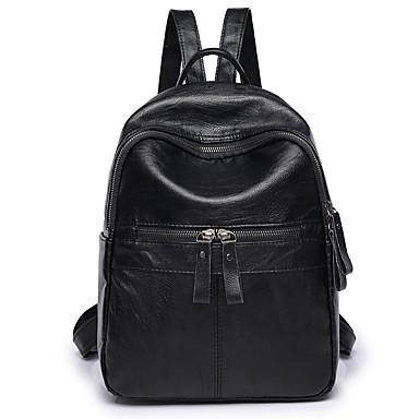 Damskie Torby PU plecak Zamek Black