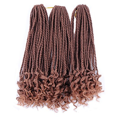 Senegalese Twist Afro Włosy syntetyczne 3 elementy Warkocze Twist Włosy Warkocze Medium