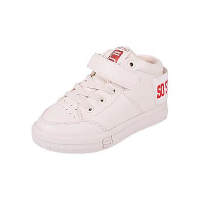Jungen Schuhe Künstliche Mikrofaser Polyurethan Herbst Winter Komfort Sneakers Für Normal Weiß Schwarz Rot