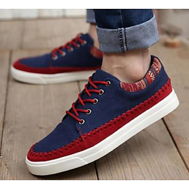 Herren Schuhe Leinwand Frühling Herbst Komfort Sneakers Für Normal Beige Blau Hellblau