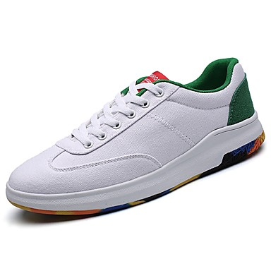 Męskie Buty PU Wiosna Jesień Comfort Tenisówki na Casual White Czerwony Black/Red White/Blue White and Green