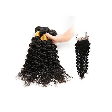 Włosy brazylijskie Włosy remy Pofalowana Ludzkie włosy wyplata 4szt Człowieka splotów włosów