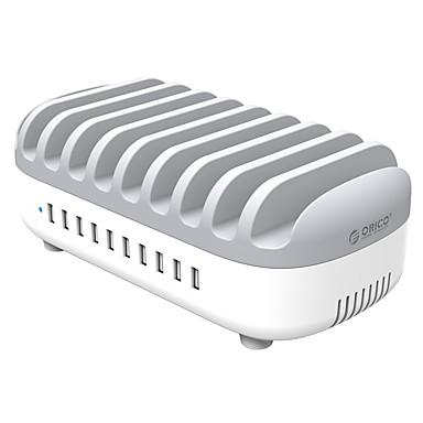 Ładowarka USB ORICO 10 portów Stacja do ładowania biur Z inteligentną identyfikacją Z funkcją Quick Charge 3.0 Wtyczka US Wtyczka EU