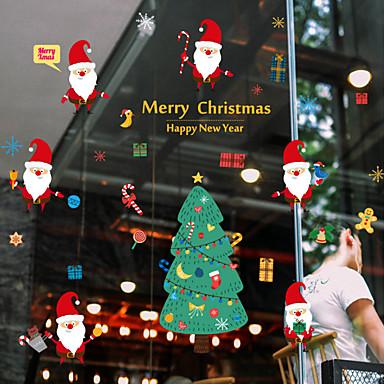 Osoba Święta Bożego Narodzenia Naklejka okienna, PVC Materiał Dekoracja okna Salon