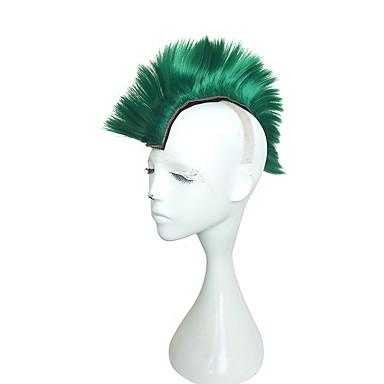 Synthetische Perücken Kinky Glatt Stufenhaarschnitt Synthetische Haare Seitenteil Grün Perücke Damen Lang Lang / Cosplay Perücke / Lolita