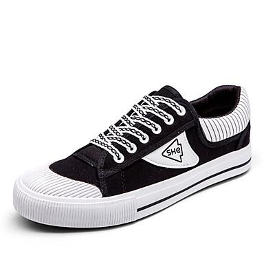 Herren Schuhe Leinwand Frühjahr, Herbst, Winter, Sommer Komfort Vulkanisierte Schuhe Sneakers Franse Für Normal Weiß Schwarz Grün