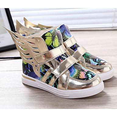 Jungen Schuhe PU Herbst Winter Komfort Stiefel Für Normal Gold Silber Blau