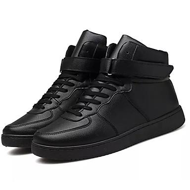 Herrn Schuhe PU Winter Pelzfutter Komfort Sneakers für Normal Weiß Schwarz