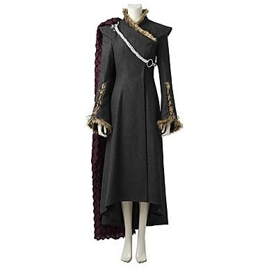 Game of Thrones Drakmodern Drottning Daenerys Targaryen Kostym Dam  Film-cosplay Grå   Svart Klänning 6ccdcf8329438