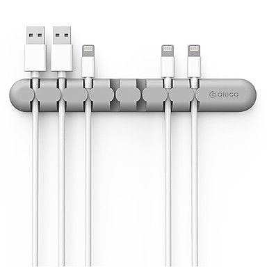 Orico cbs7 pulpit organizator kabli uchwyt drutu silikonowego klip
