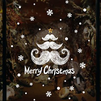Art Deco Święta Bożego Narodzenia Naklejka okienna, PVC Materiał Dekoracja okna Salon