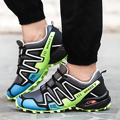 Férfi cipő Szintetikus Tavasz Ősz Újdonság Kényelmes Futócipő Fűző mert Fekete Zöld Királykék