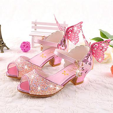 9be03646b9e Chica Zapatos Microfibra Verano   Otoño Confort   Innovador   Zapatos para  niña florista Sandalias Paseo Pajarita para Blanco   Azul   Rosa   Boda    Fiesta ...
