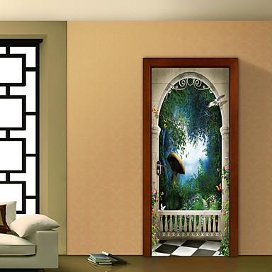 Krajobraz Botaniczny Naklejki Naklejki ścienne 3D Dekoracyjne naklejki ścienne, Winyl Dekoracja domowa Naklejka Ściana