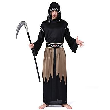 Kostium Męskie Kostium Black Postarzane Cosplay Poliester Długi rękaw Biskup Majtki